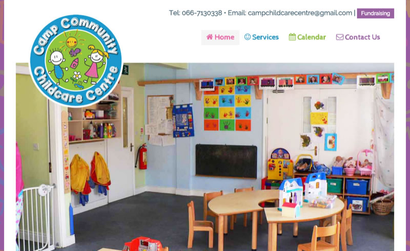 Camp Child Care - Website for creche