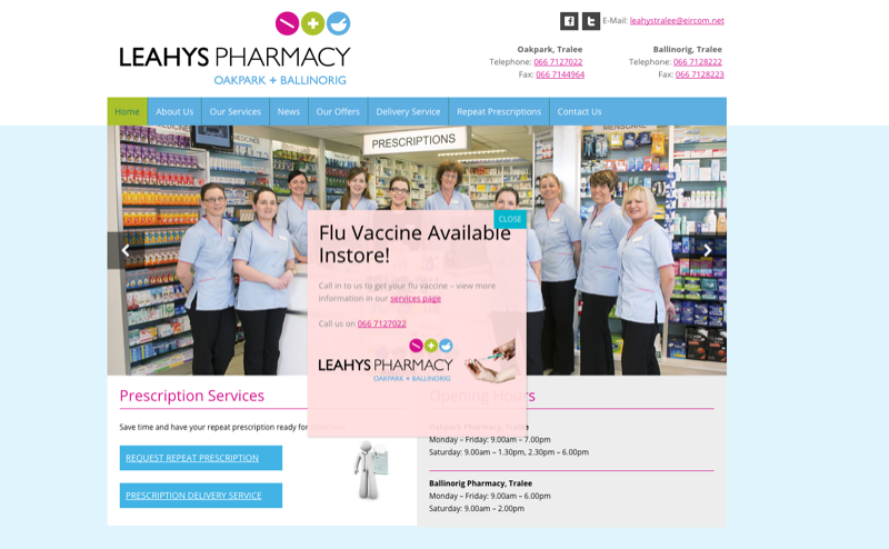 Pharmacy Website Design